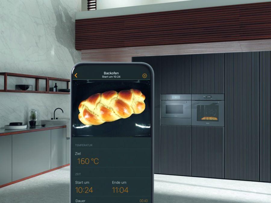 Miele Food View alkalmazás - Kamera a sütőben