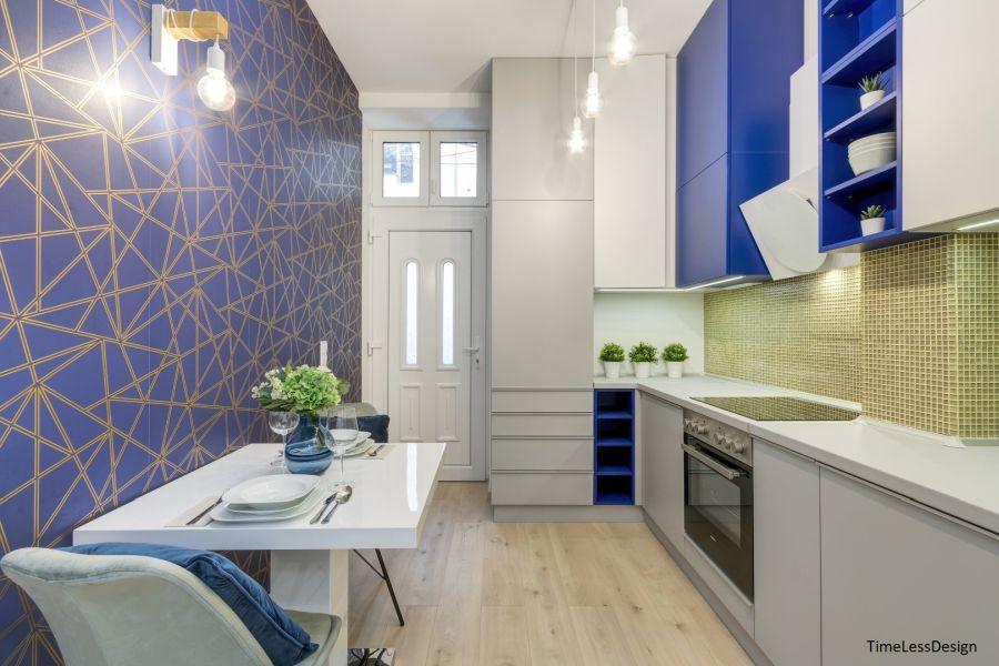 Étkezős egyedi konyha minigarzon lakásban