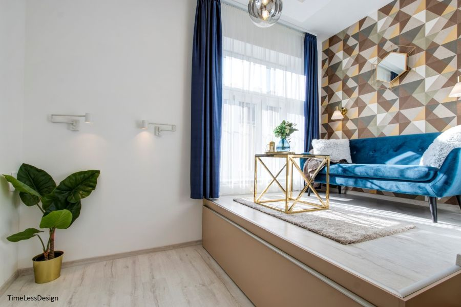 Dobogós kialakítású nappali rejtett ágy