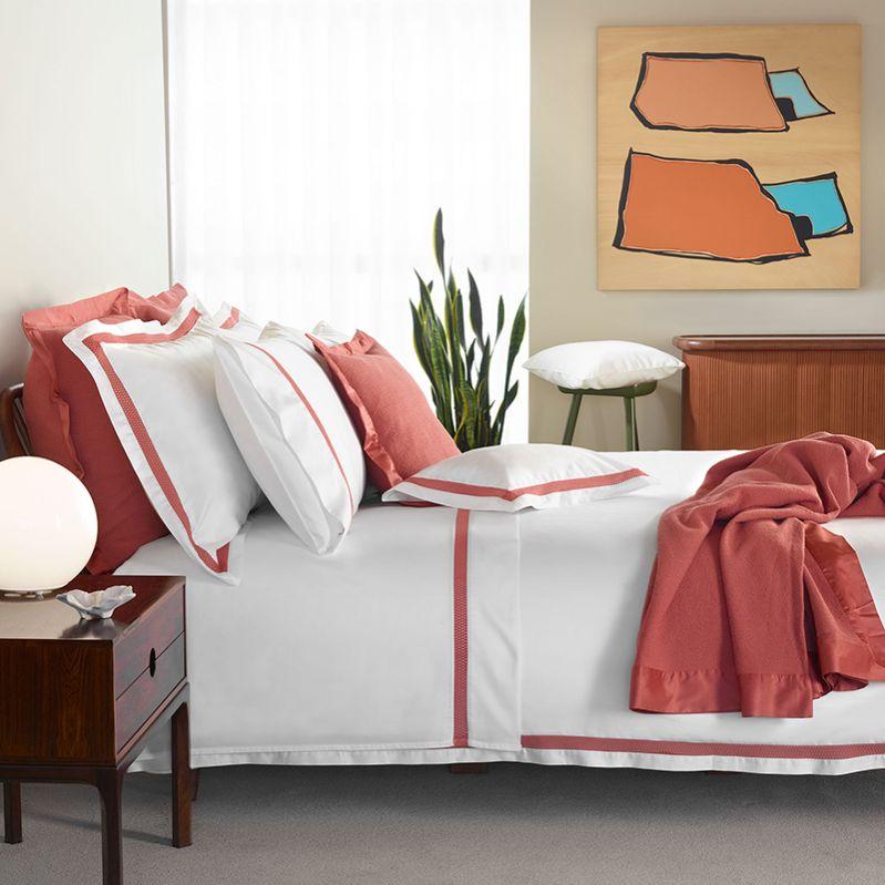 Amelia luxus ágynemű vörös és fehér színben