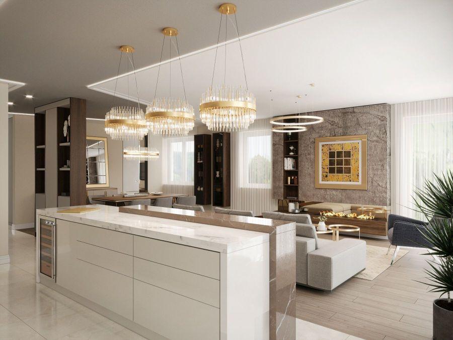 Modern lakás látványtervek - Szűcs Klára lakberendező konyha