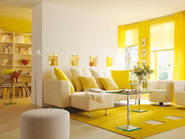 Sárga nappali lakberendezési ötletek