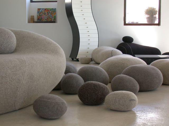 Látványos kő hatású párnák