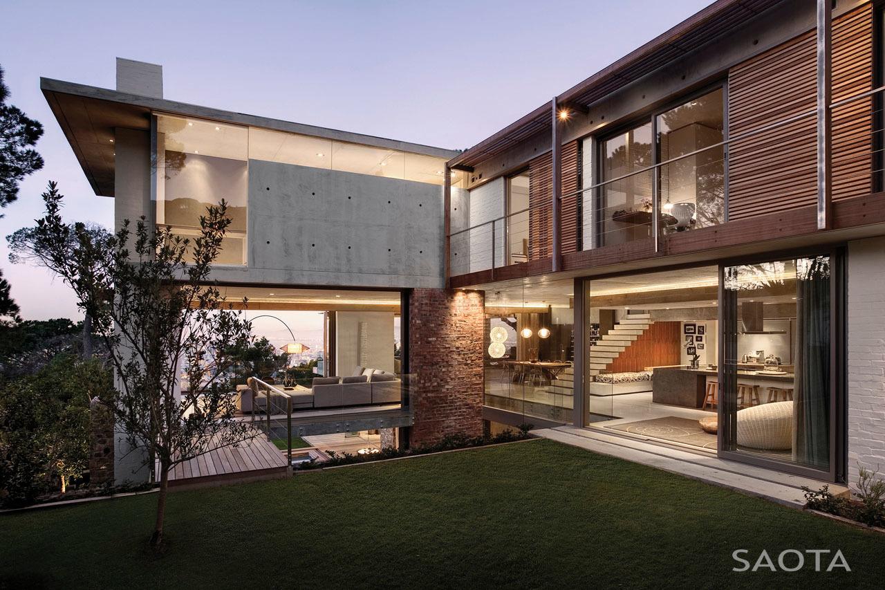 Üveg, fa és beton tökéletes egysége