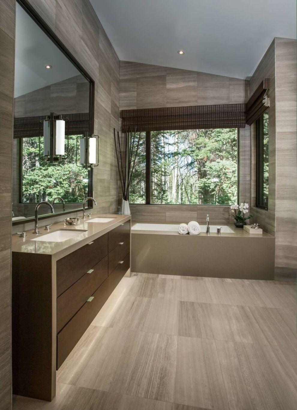 Modern letisztult fürdőszoba