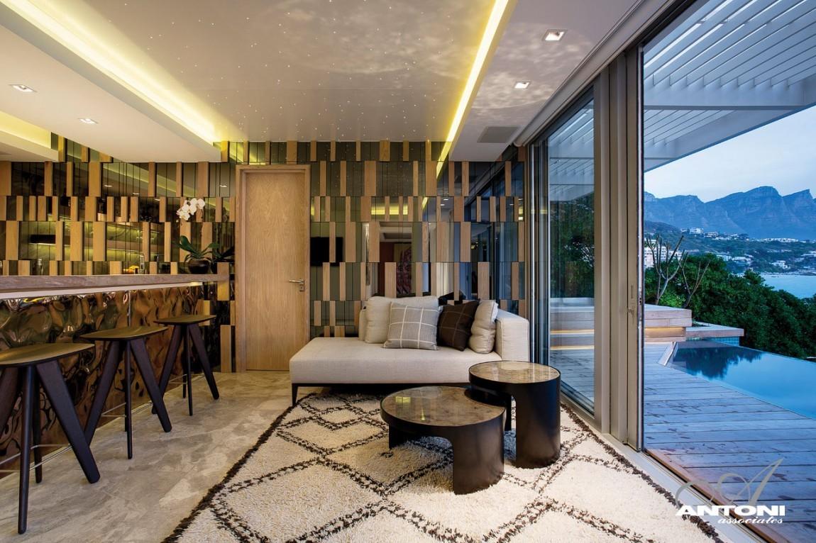 Clifton villa teraszmegoldások, bútorok és dekoráció