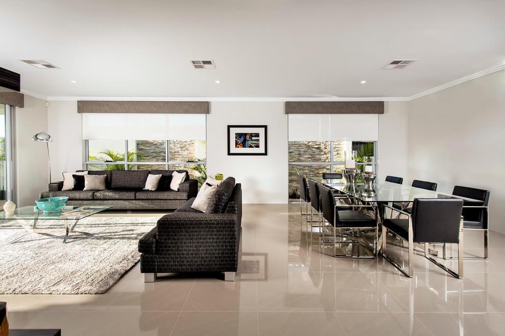 Ausztrál lakberendezés - Családi ház tágas terekkel és verandával