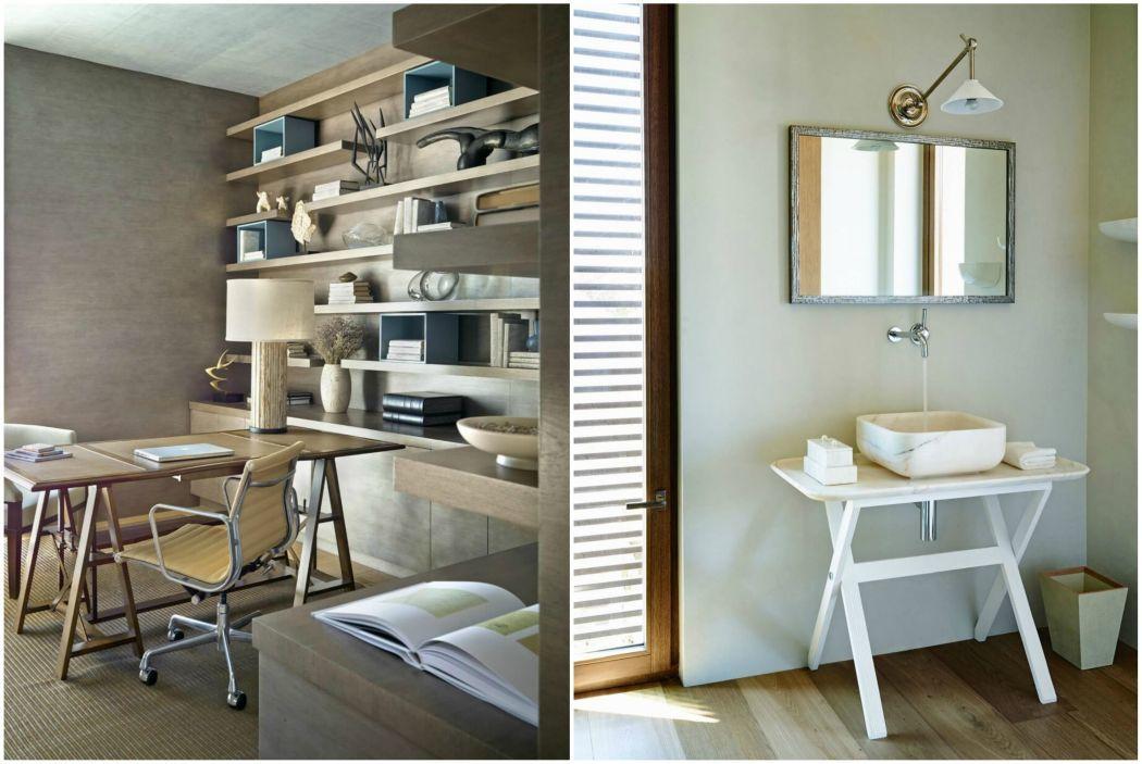 Modern doldozószoba és fürdőszoba