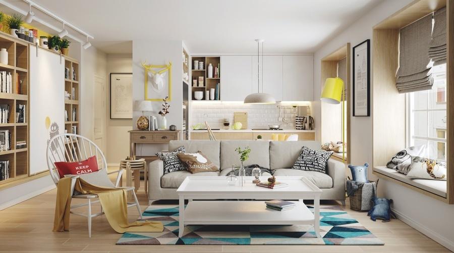 9 modern világos nappali berendezési ötlet