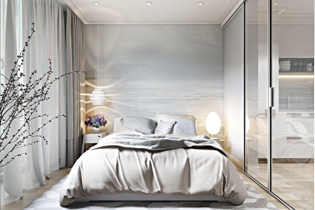 Hálószoba dekoratív poszterrel