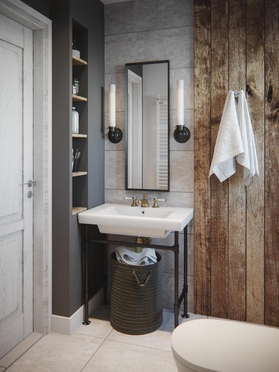 Vendég fürdőszoba vintage stílusban