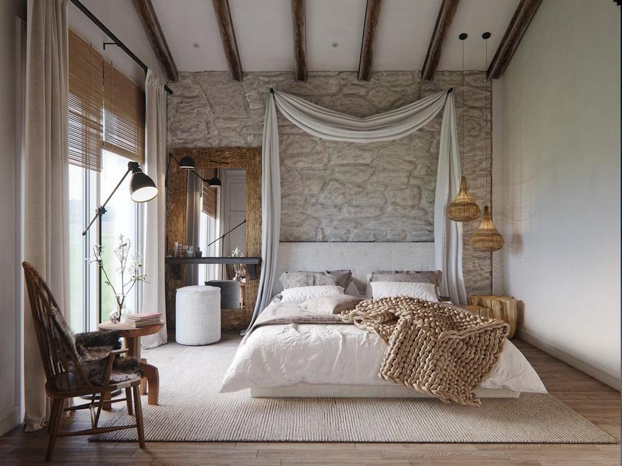 Maradéktalan rusztikus életérzés a hálószobában