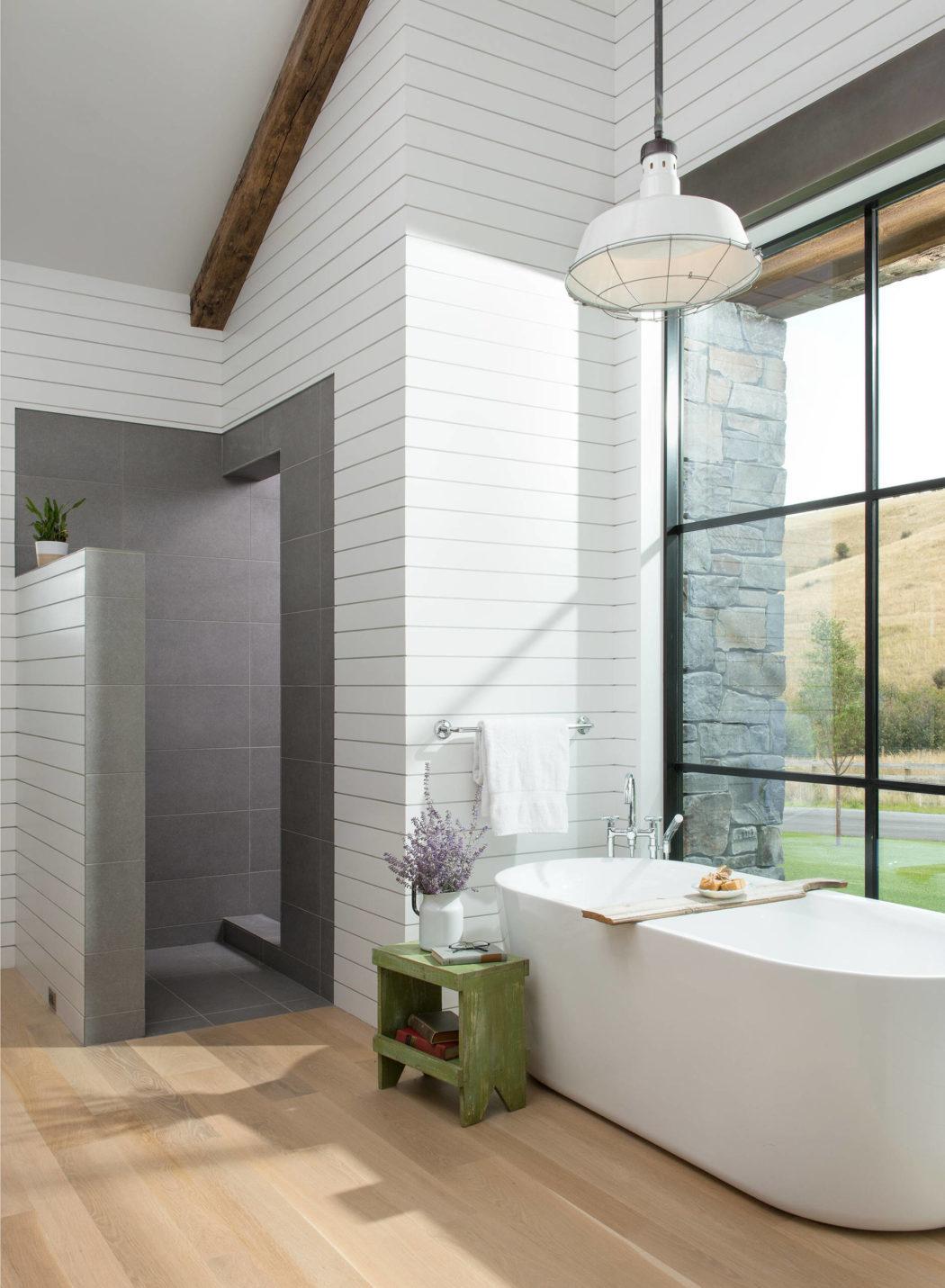 Ipari hangulat a modern fürdőszobában