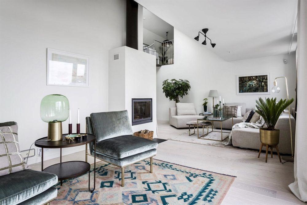 Natúr színű ülőgarnitúra a nappaliban