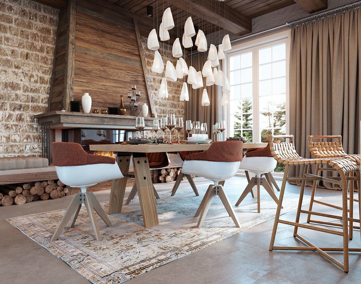 Mediterrán otthon modern étkezővel