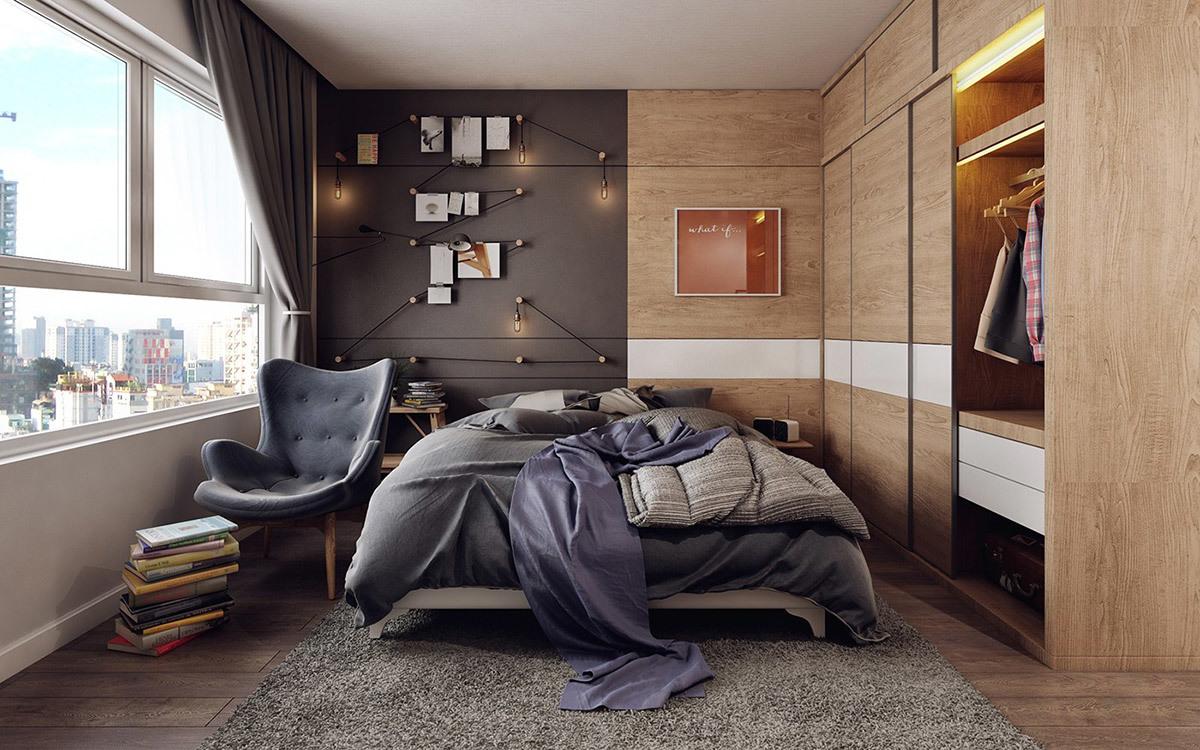 Városi modern hálószoba