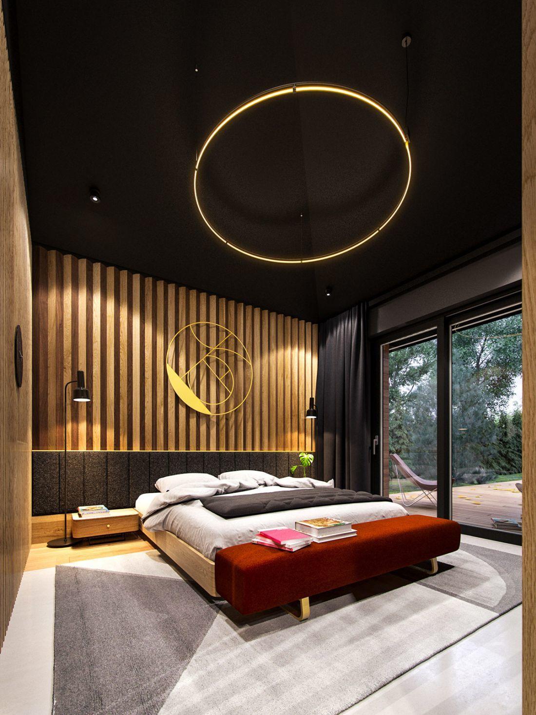 Otthonos és meleg hangulatú hálószoba berendezés