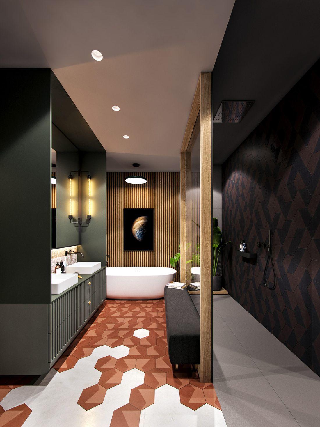 Zöld fürdőszobaszekrény