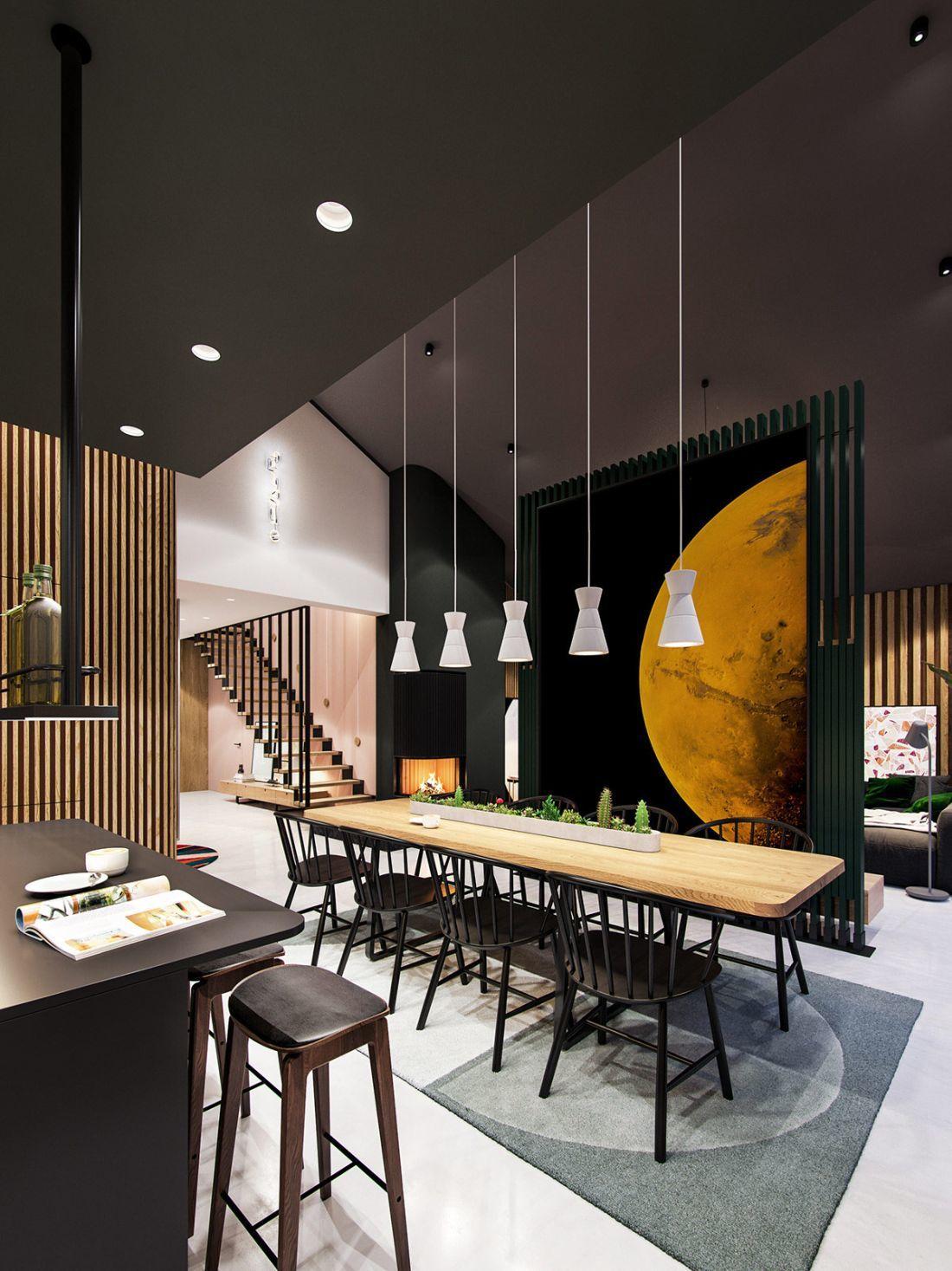 Kényelmes hosszú étkezőasztal