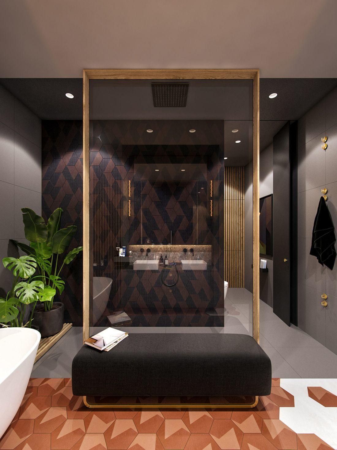 Modern fürdőszoba berendezés