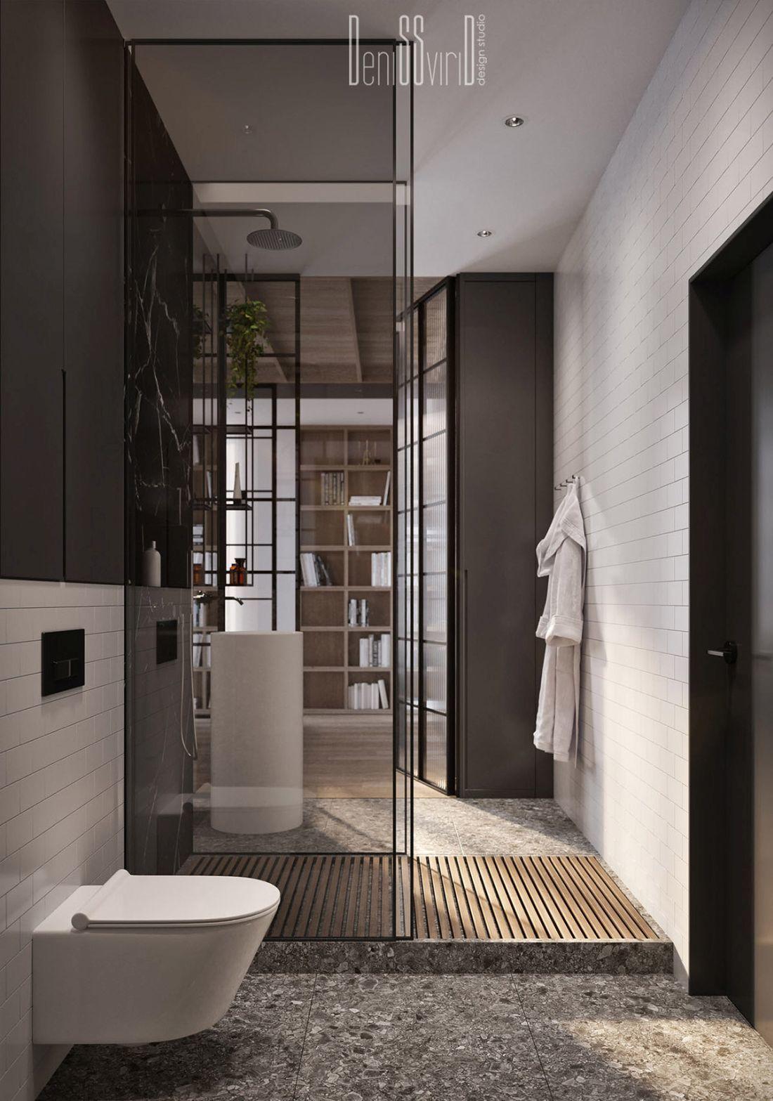 Stílusos loft stílusú fürdőszoba berendezés