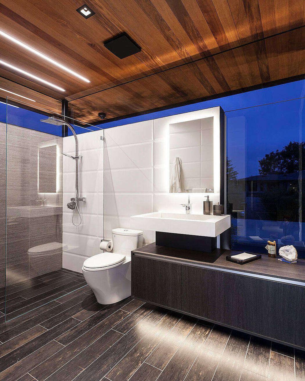 Egy másik fürdőszoba óriás metró csempékkel
