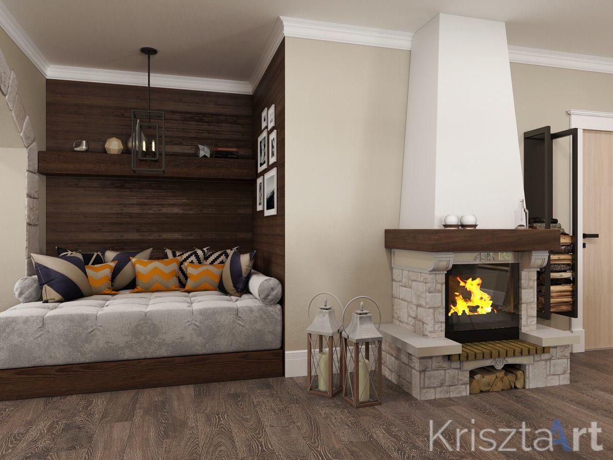Krisztaart - Pihenősarok a kandalló mellett