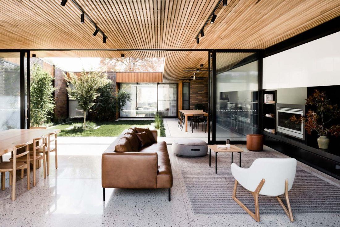 Egy szelet a természetből - Modern belső kert ötlet
