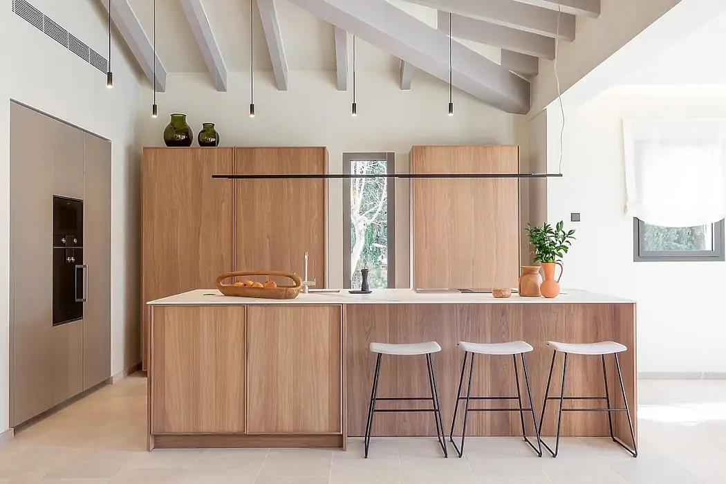 Natúr fából készült a konyhabútor