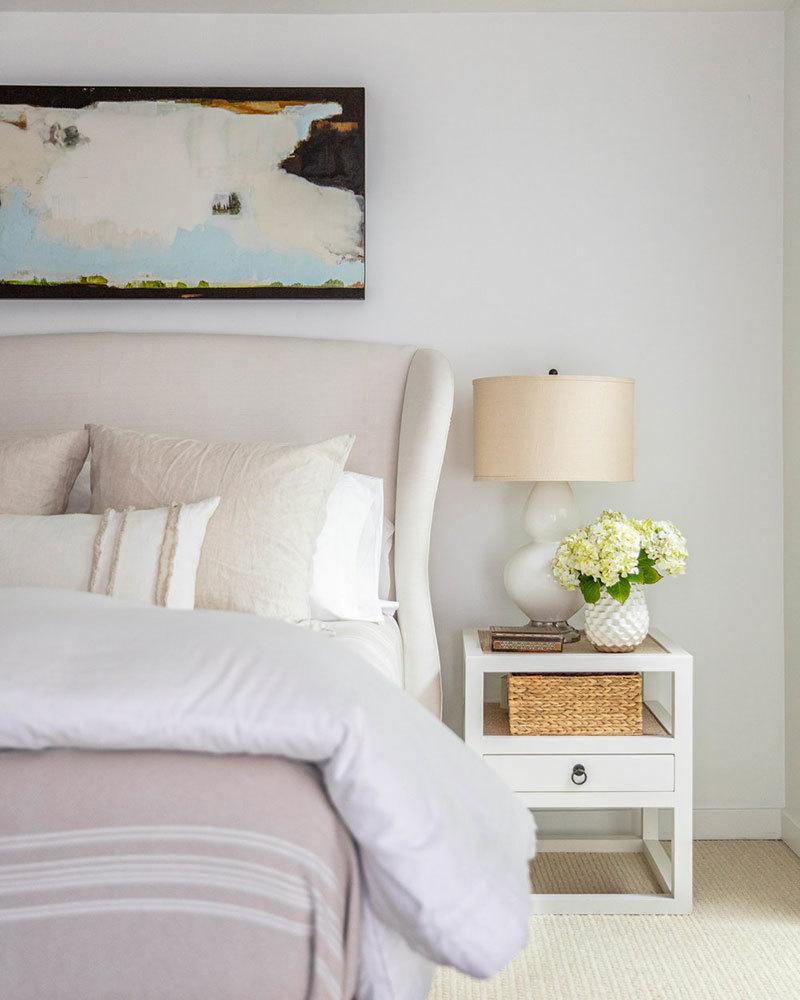 Minden részlet a színsémát követi, a lámpa és az ágytakaró is