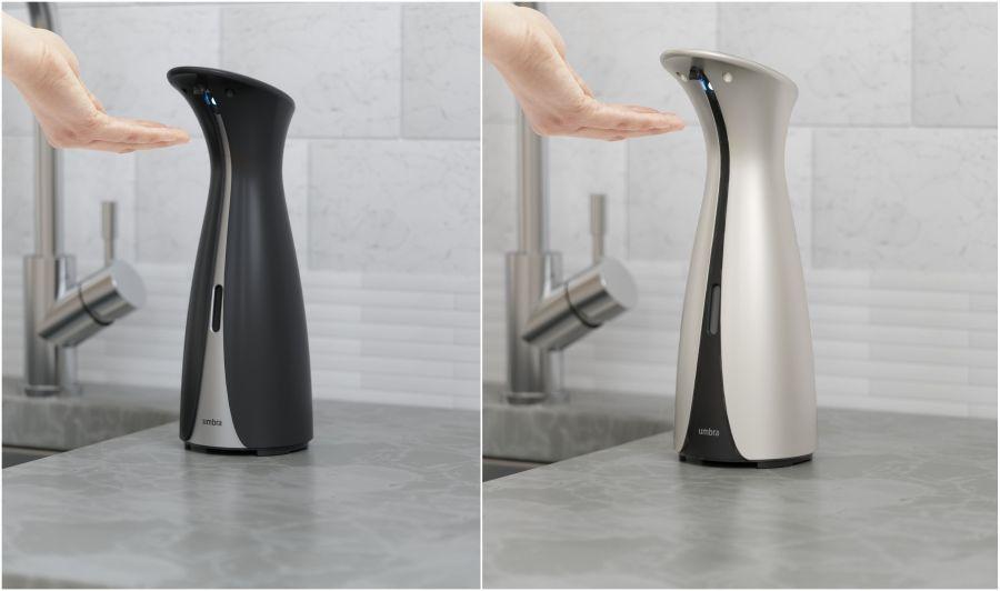 Umbra szenzoros szappan és kézfertőtlenítő adagoló fekete és ezüst