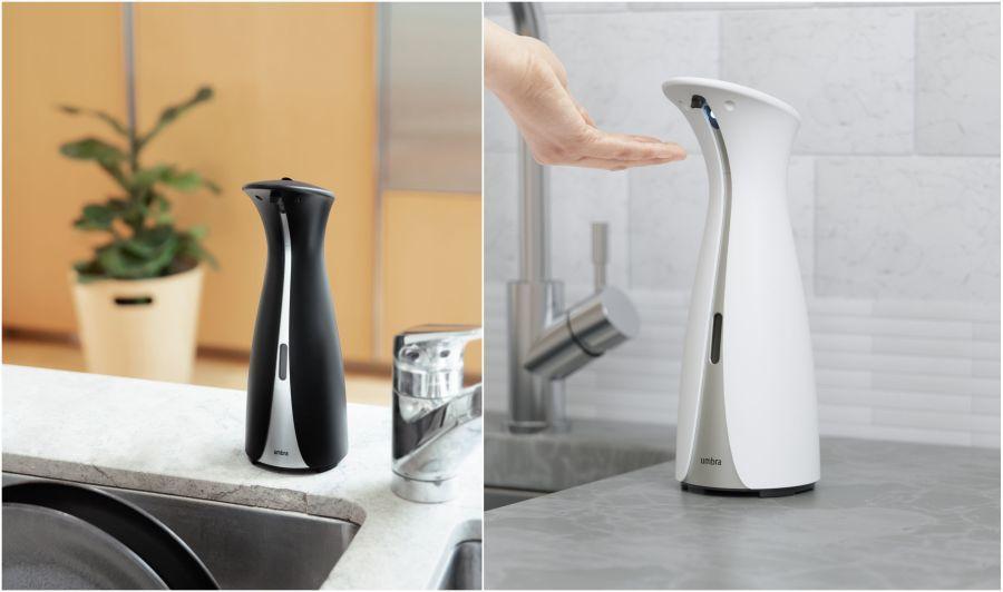Umbra szenzoros szappan és kézfertőtlenítő adagoló fekete és fehér
