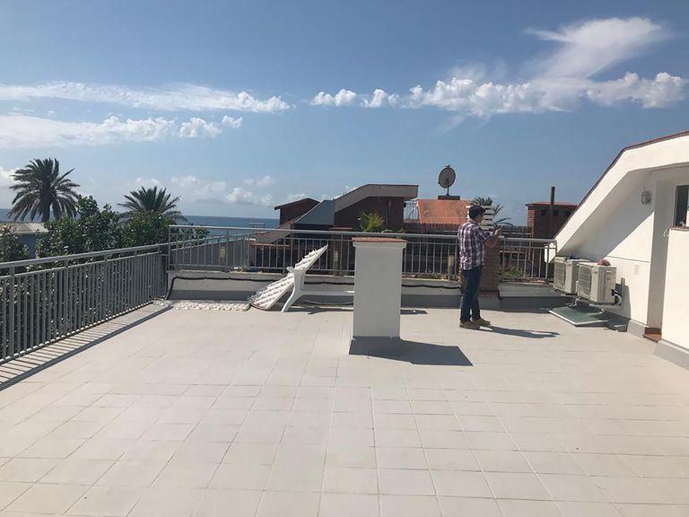 Lehangoló tetőterasz átalakítás előtt