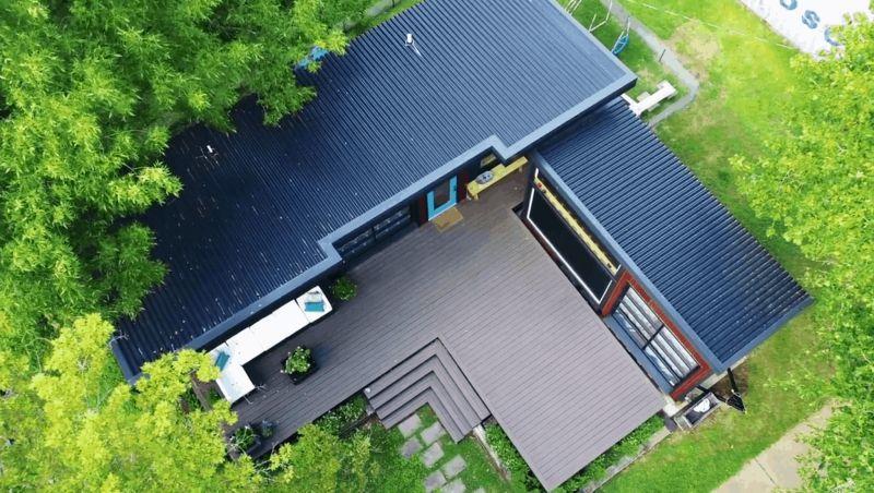 Miniház fém tető és fémlemez borítás