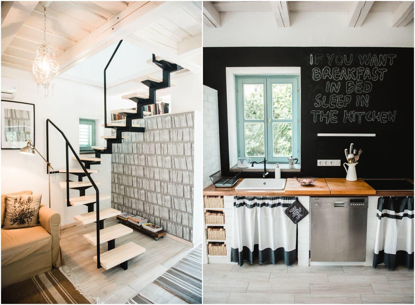 Táblafesték a konyha falán - Noemi's Cottage Balatongyörök