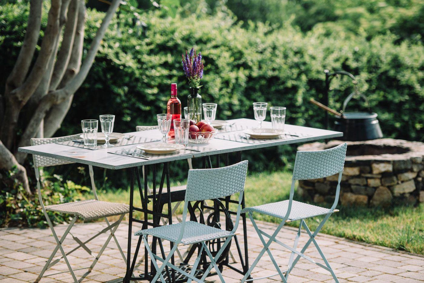 Terasz és kültéri étkező - Noemi's Cottage Balatongyörök