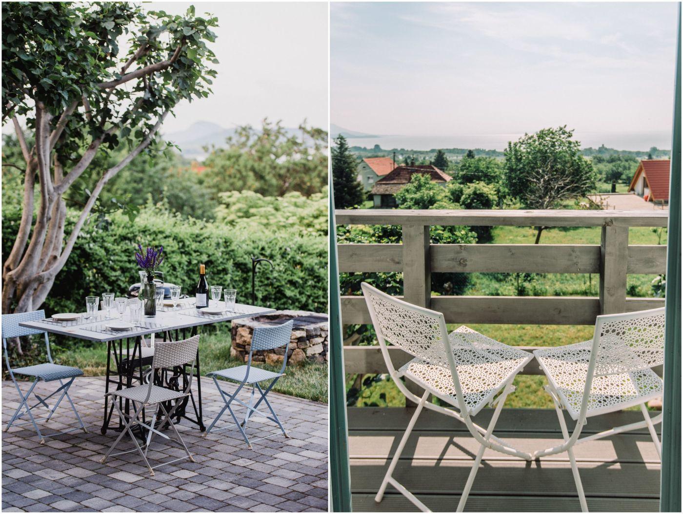 Terasz a kertben - Noemi's Cottage Balatongyörök