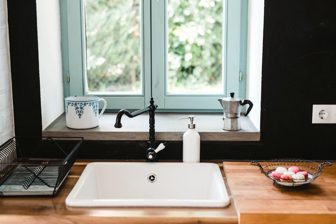 Kerámia mosogató klasszikus csapteleppel - Noemi's Cottage Balatongyörök