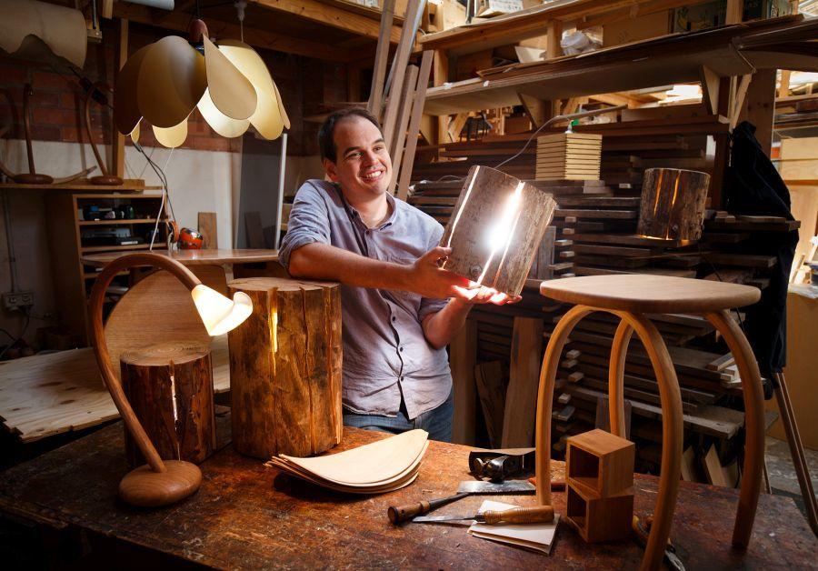 Duncan Meerding a lámpatervező