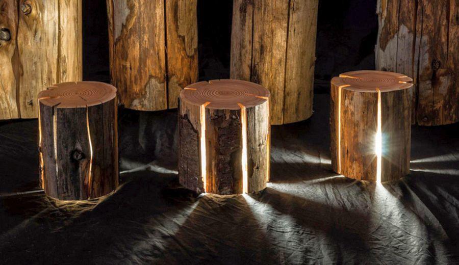 Kültéri lámpa fából beltérre és kültérre
