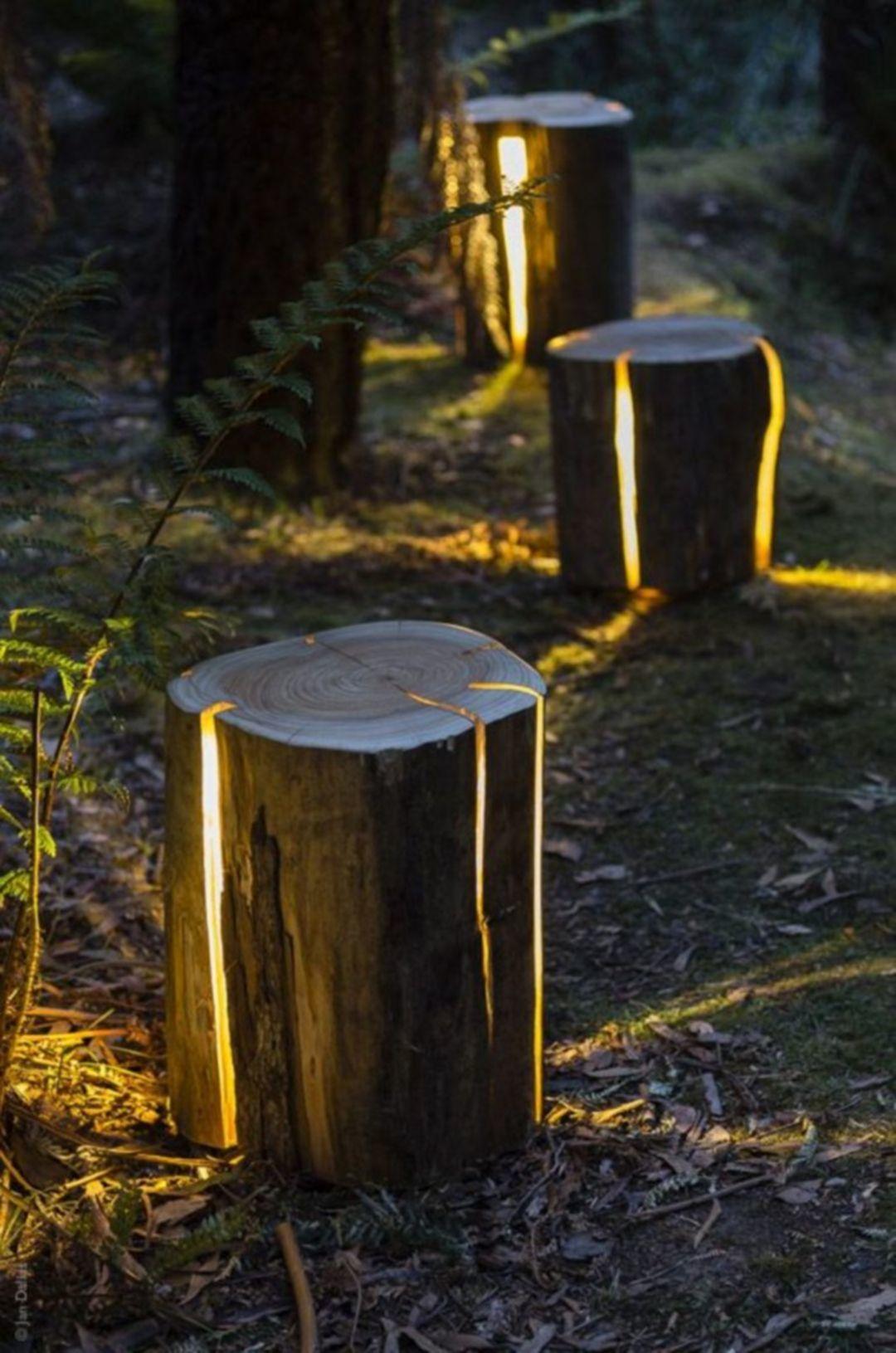 Kültéri lámpa fából