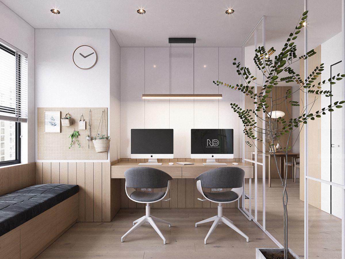 Tolóajtós home office dolgozószoba pihenőpaddal