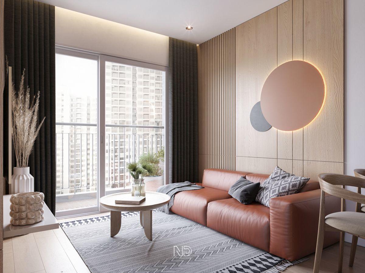 Egyszerű kis teraszos nappali