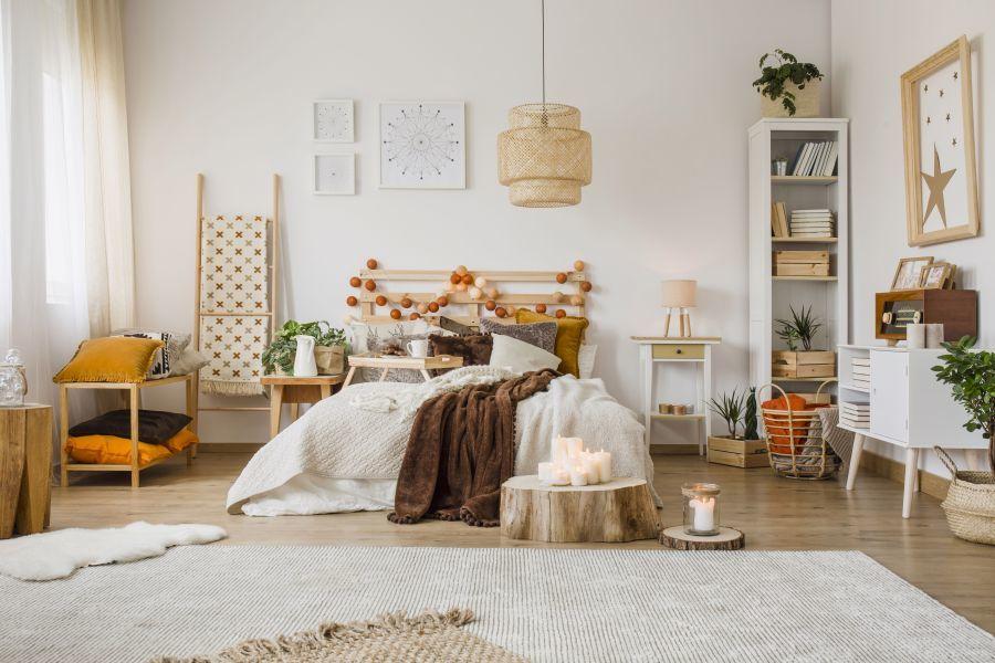 Skandináv stílusú hálószoba