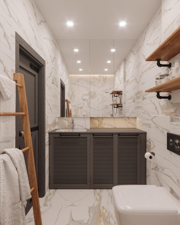 Szürke mosdópult szekrénnyel