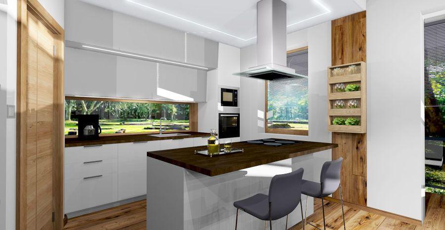 Szigetes fehér konyha