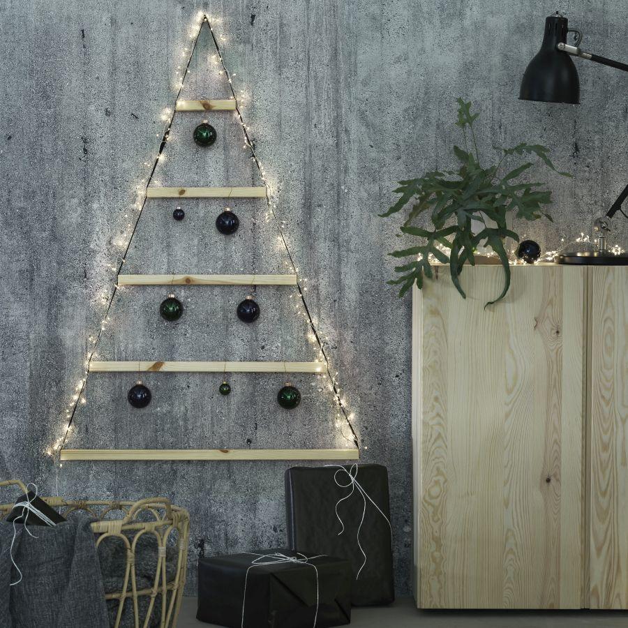 Ikea fali karácsonyfa dekoráció