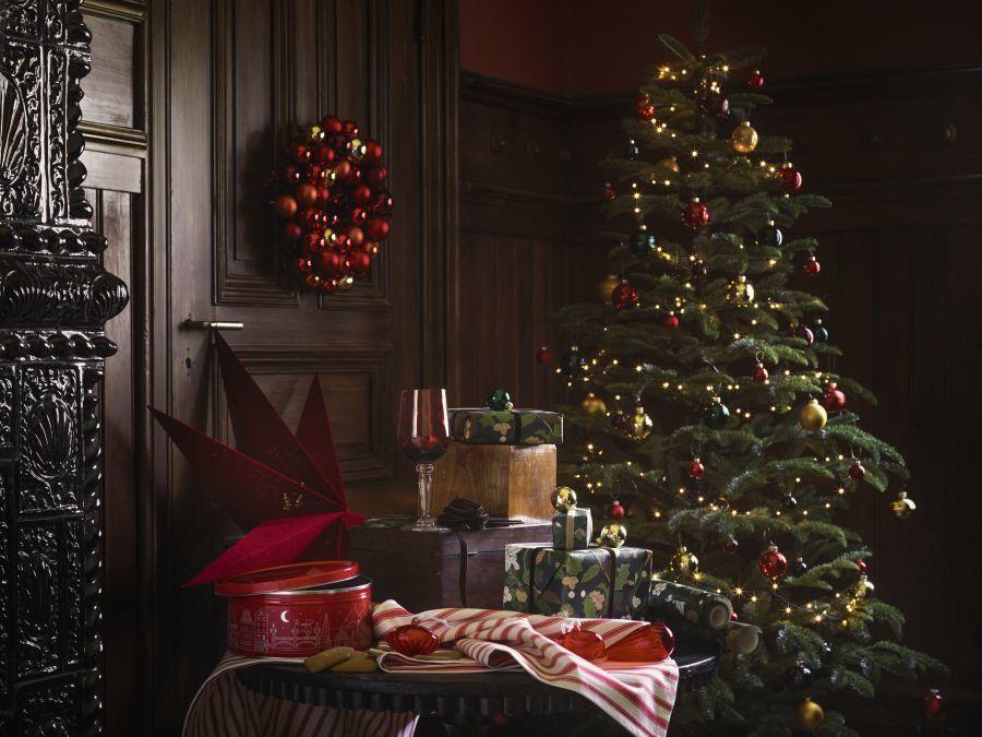 Ikea karácsonyfa piros és arany