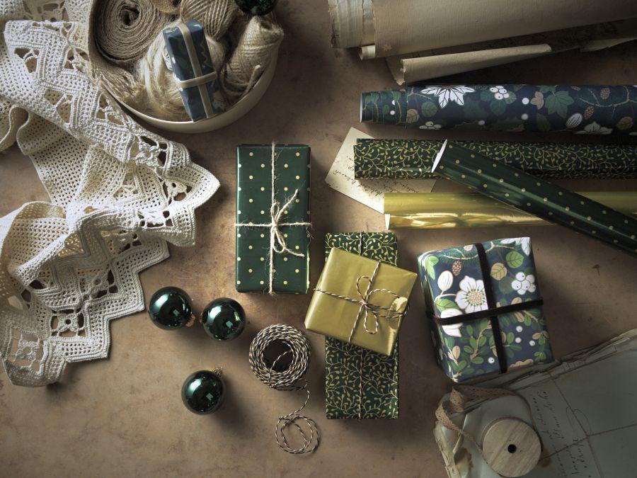 Ikea karácsonyi csomagolópapír