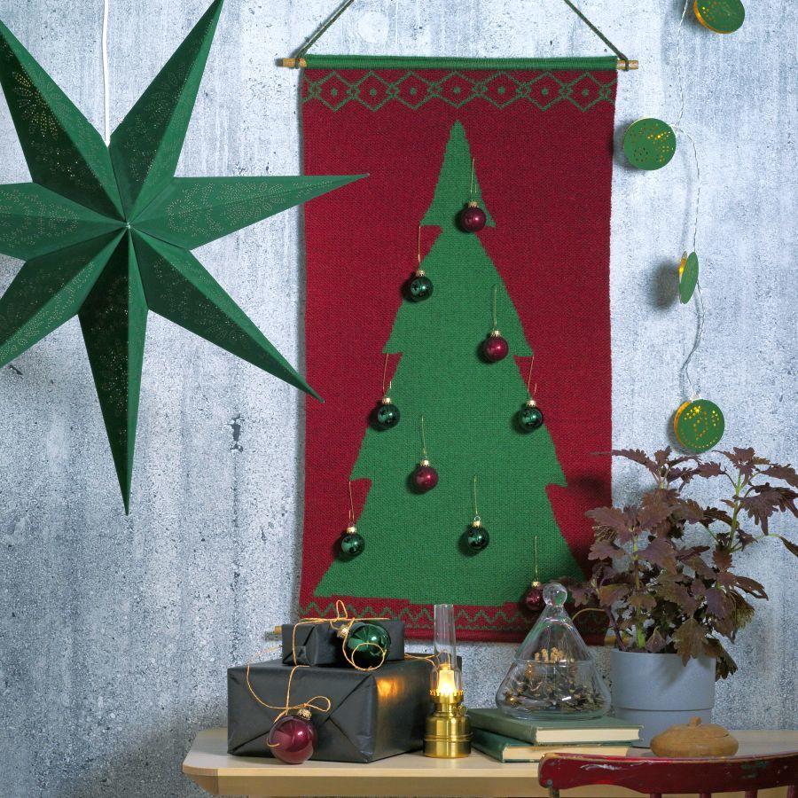 Ikea fali karácsonyfa zöld és piros